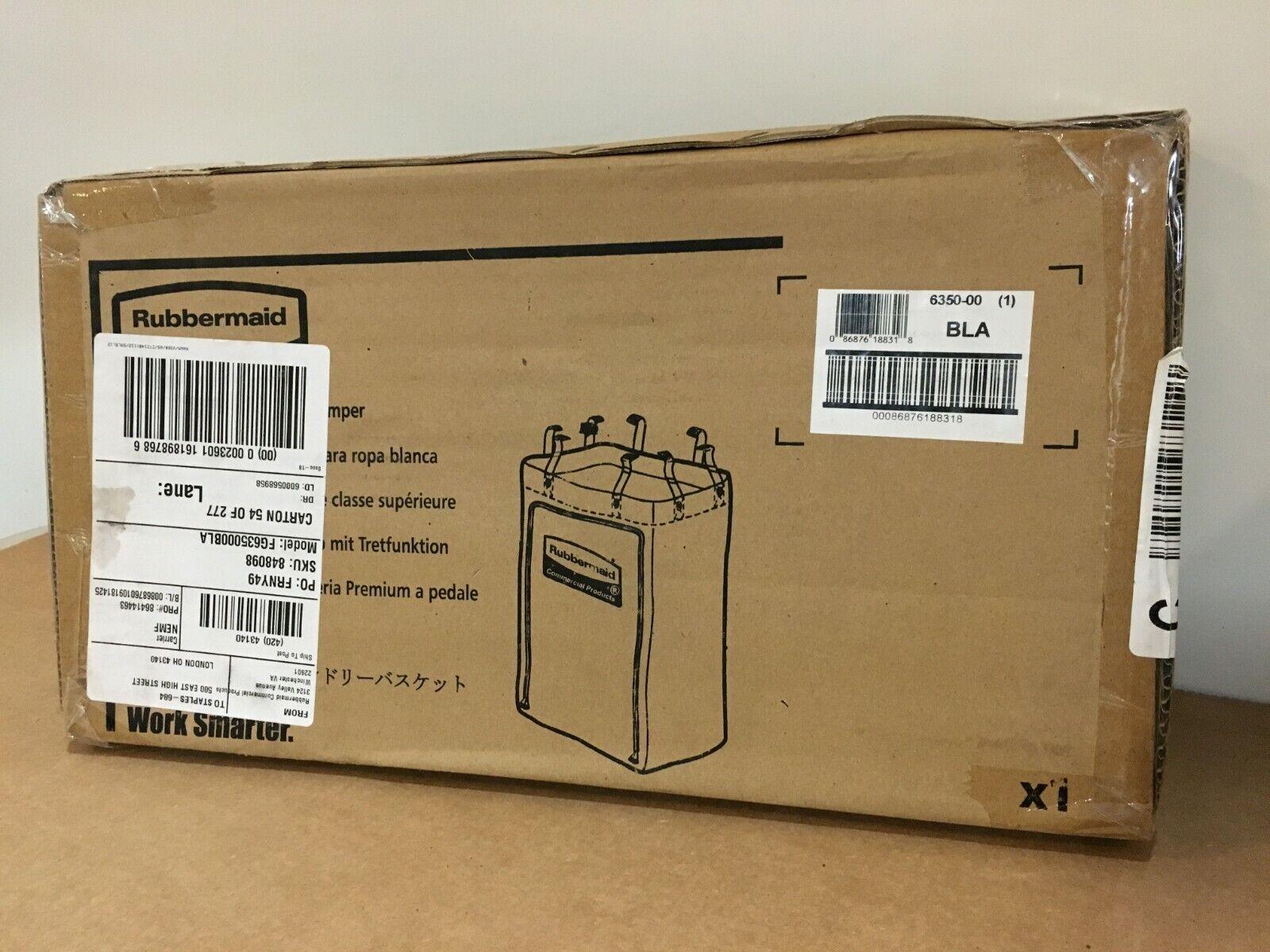 Rubbermaid Commercial FG635000BLA Linen Hamper Bag, Black