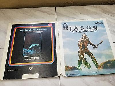Lot of 2 CED VIDEODISCS The Greatest Adventure NASA & Jason & The Argonauts
