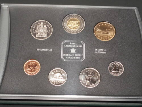 2000 Royal Canadian Mint 7-Coin Specimen Set with Original Packaging & COA