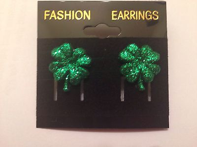 Shamrock Glitter Earrings Luck
