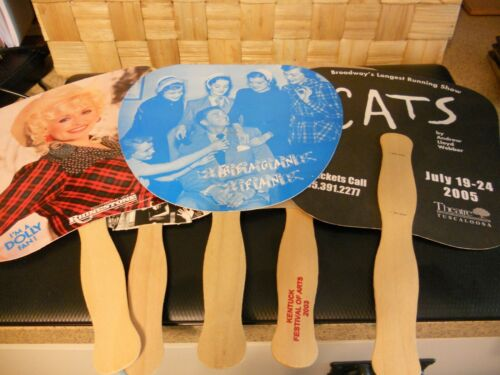 Church Style Fans Advertising Political & Events /Reagan Dolly Cats Chicago Ken