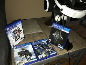 PlayStation VR system, PSVR stand and games