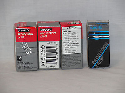 4 Four Projector Lamp Projection Bulb Apollo 120v 600w Apc71sk1 Dys Dyv Bhc