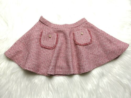 Mayoral Girl PINK SILVER GLITTER WOOL BLEND TWEED SKIRT SIZE T6 / 116 CM