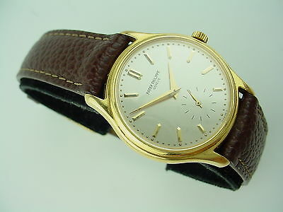 Patek Philippe Calatrava Hand-winding 18K Yellow Gold Vintage Watch