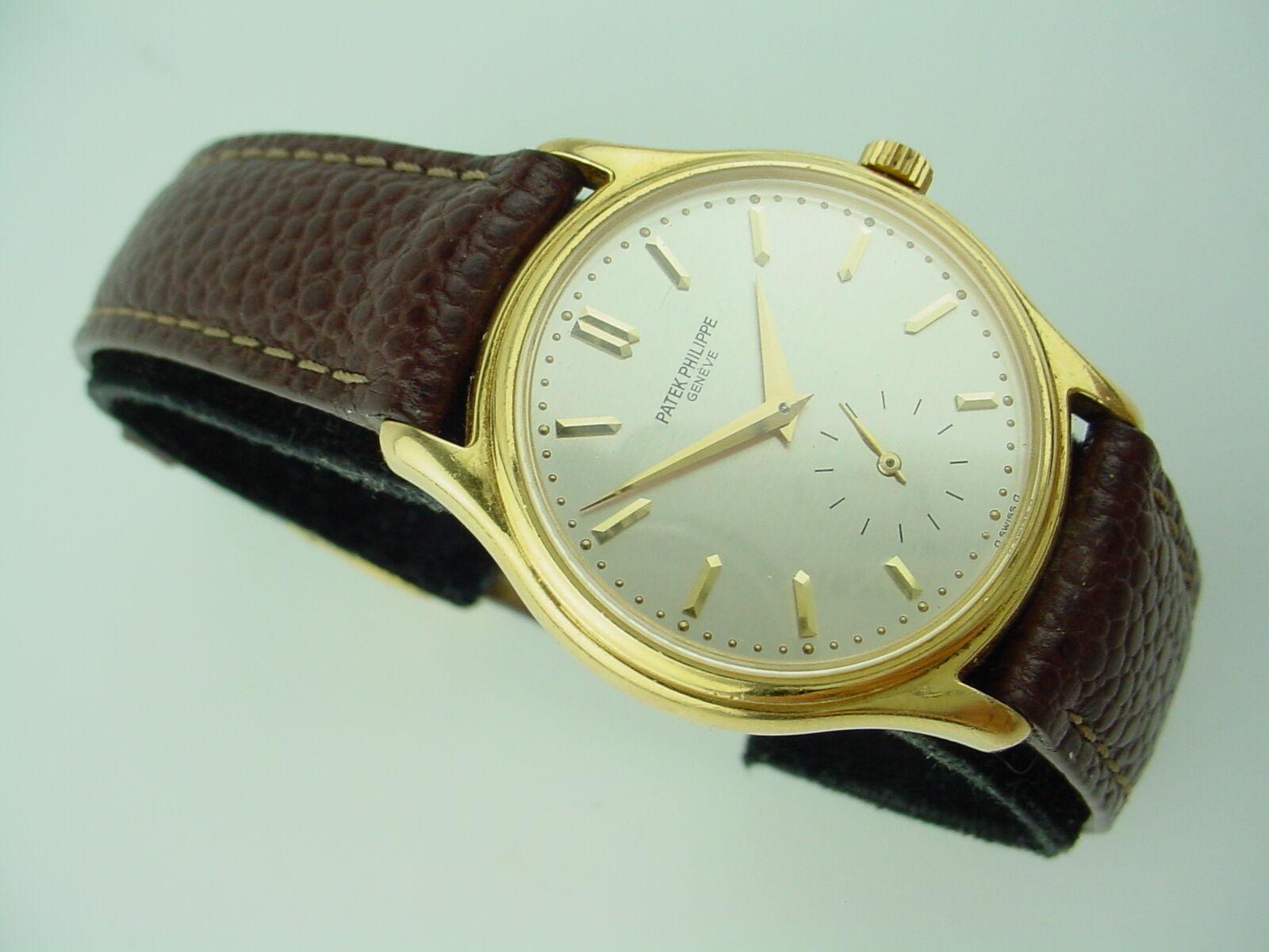 $7149.45 - Patek Philippe Calatrava 215 Hand-winding 18K Yellow Gold Vintage Watch 31mm