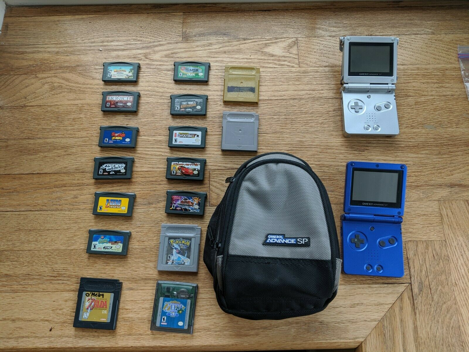 Nintendo Game Boy Advance SP and 16 Games including -