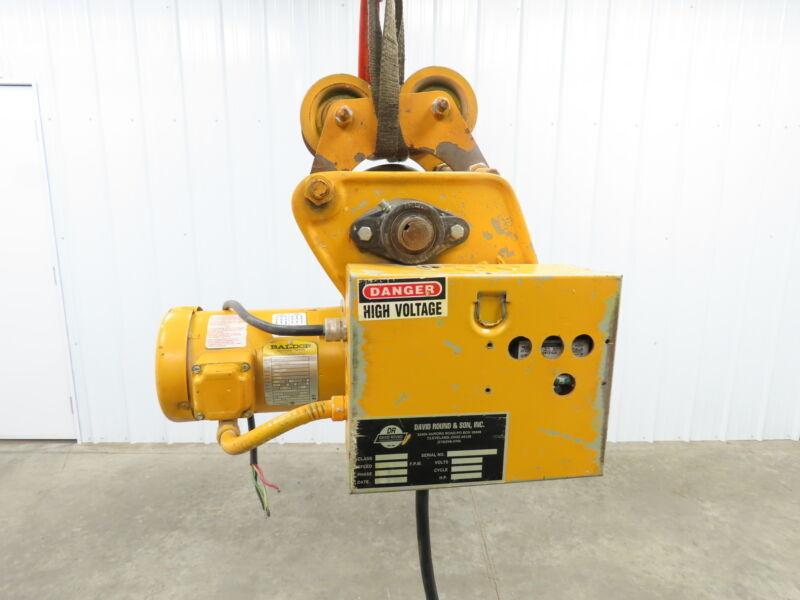 David Round Hoist Tractor Power Drive Trolley  85 Fpm. 460v 3Ph