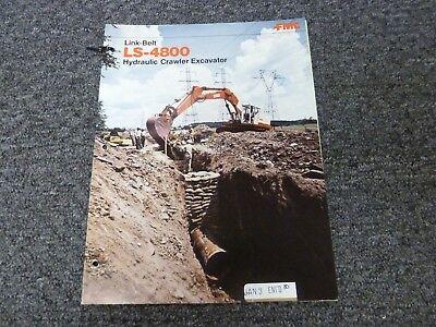 Link-belt Ls-4800 Crawler Excavator Specifications Lifting Capacities Manual