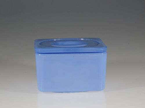 Vintage Jeannette Glass Company Delphite 4-1/4 x 4-1/4 Inch Fridge Jar c.1930