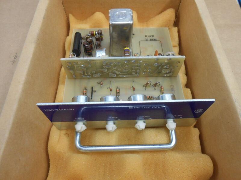 GE GENERAL ELECTRIC SENSITIVE RELAY 193X704ABG01