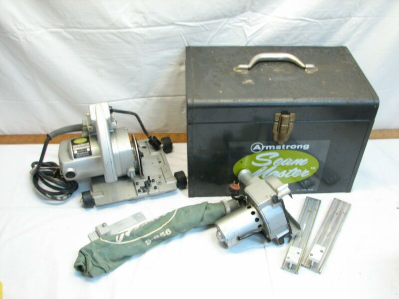 Armstrong Seam Master Flooring Cutter Saw Tool with Box Dust Guard S-856