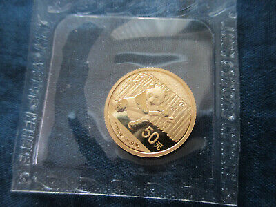 2014 50 yuan Panda Gold coin .999 Still sealed 1/10 ounce