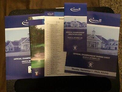 Deutsche Bank Championship Program Guide Pairings Tpc Boston 2003 Inaugural