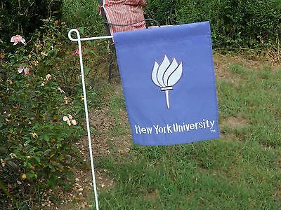 New York University Garden Flag  Embroidered By Evergreen