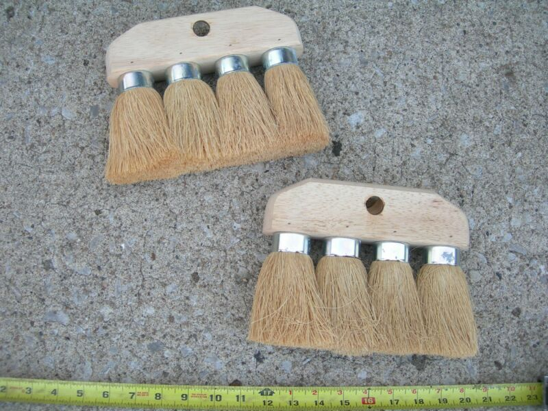 2 NEW ROOFING BRUSH 4 KNOT 8 x 6 3/4 MASONRY UTILITY CLEANING ROOF TOOL BRUSHES