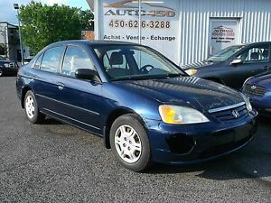 Honda Civic DX 2002 *** A/C, FIABLE ***