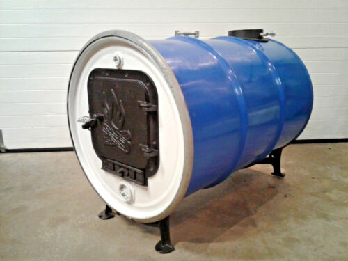 55 Gallon Metal Drum Wood Burning Barrel Stove Heater