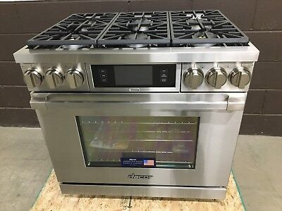 Dacor DYRP36DS/NG Discovery PRO Dual-Fuel Gas Range 6 Burner Stainless for sale  Niles