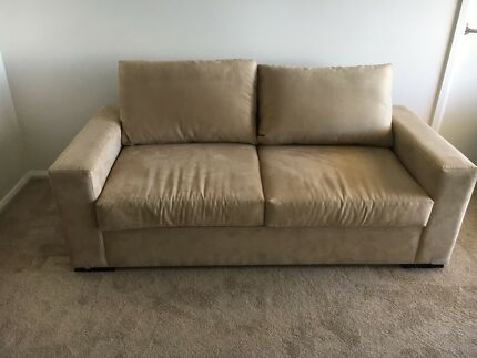 Beautiful two and a half seater suede sofa bed