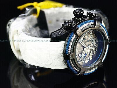 - New Invicta 54mm Bolt Tri-Cable Dragon & Koi Fish Chrono Black IP SS 200M Watch
