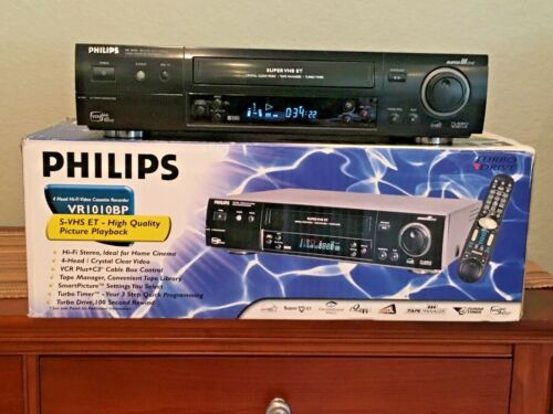 Philips VR1010 S-VHS ET VCR - Complete,Mint Condition with less than 100 hours!