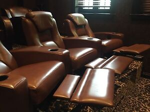 **FOR SALE MOVIE ROOM RECLINING SEATING**