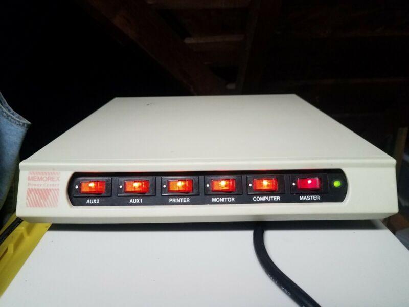 Vintage MEMOREX Computer Power Center Surge Protector *WORKS GREAT*