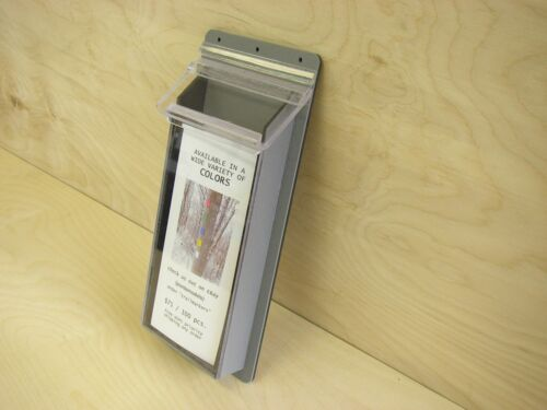 brochure holder outdoor impact resistant - gray