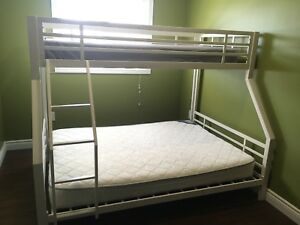 Bunk beds- single over double metal