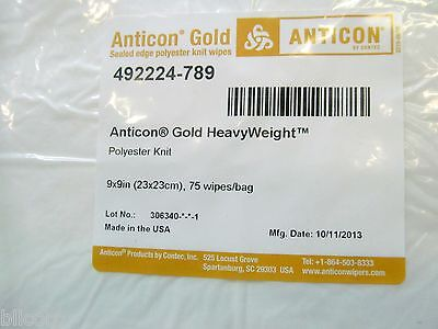 MiContec Anticon Gold HeavyWeight Wipers Cleanroom 492224-789, 9x9, Cs of 1200