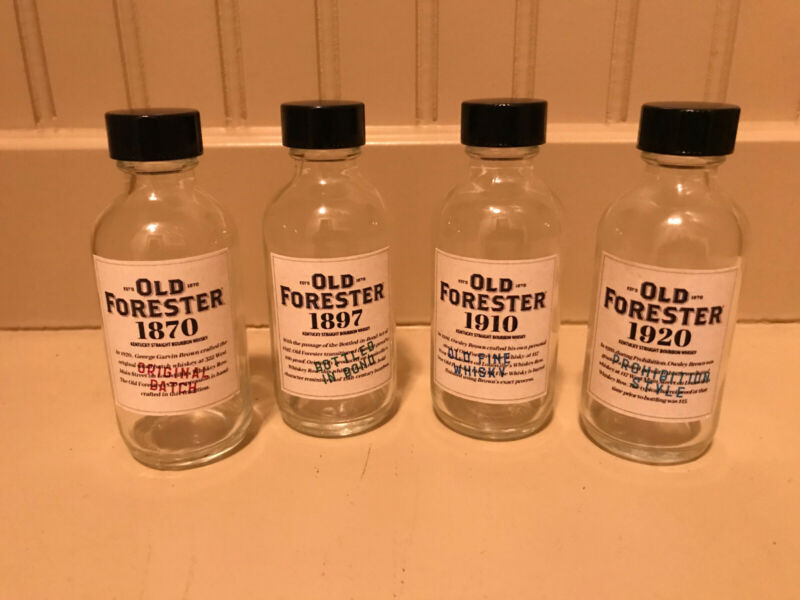 old forester bourbon whiskey 2 oz sample bottles pappy blantons weller
