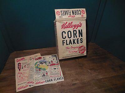 Vintage 1942 Kelloggs Corn Flakes Cereal Box - Giant Size
