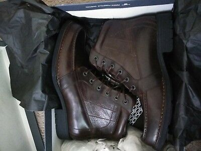 Rockport TC Rugged Moc Toe Lace up Boot Brand New. Brown/ Size 11.5 W Rugged Moc