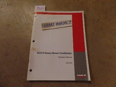 Case Dc515 Rotary Mower Conditioner Operations Manual 6-6120