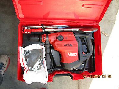 Hilti Te 80 Atcavr Rotary Hammer Drill Wlot New Bits Original Case Mint961