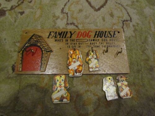 Family Dog House Wall Plaque Novelty
