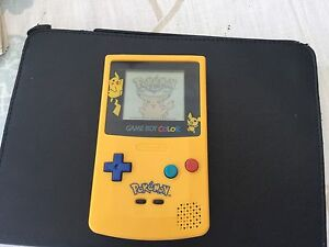 Nintendo GAMEBOY COLOUR Pokemon Pikachu console - New Shell And Screen- Mint.
