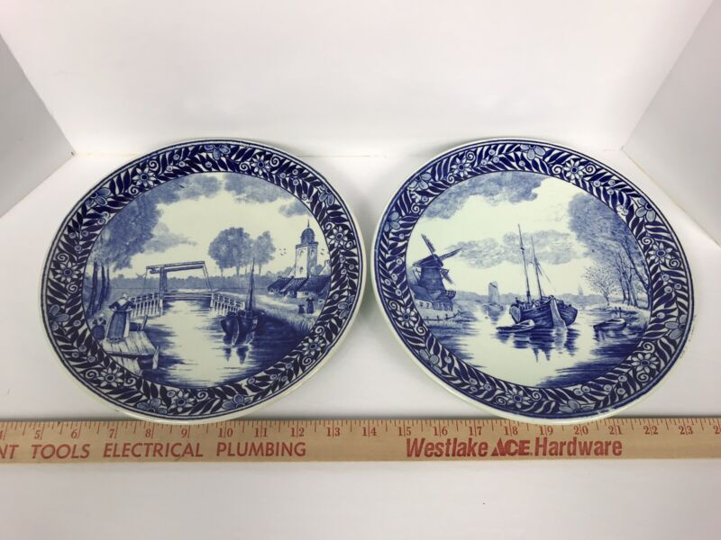 Delff Holland Plates (2) - Wallhangers