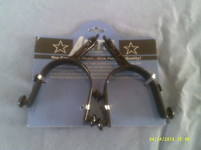 Spurs, Children s Bull Riding with Interchangeable Rowels 15 Degree Offset (Bull Riding Spur Rowels)