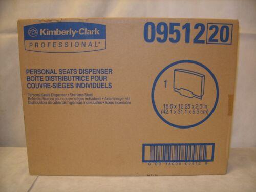 Kimberly-Clark / Scott Toilet Seat Cover Dispenser, Stainless Steel, 09512 NOS