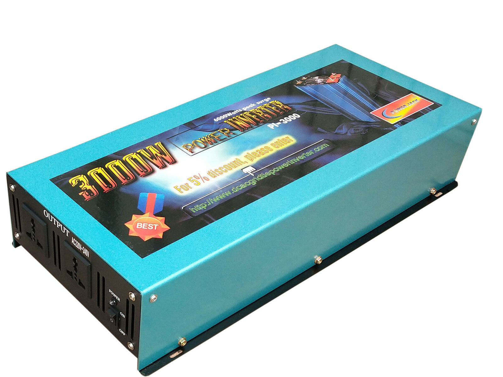6000W surge power Power Inverter 12V DC to 110V 120V/car pow