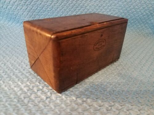 Antique Singer parts folding wooden box sewing machine parts