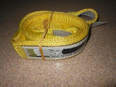 Eet-2-902 Usa Made 4 Feet Long Lifting Sling-2 Wide- 2 Ply Nylon- Eye Eye