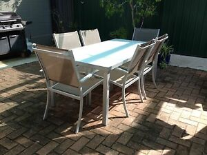 Outdoor 7 piece dining table setting Moana Morphett Vale Area Preview