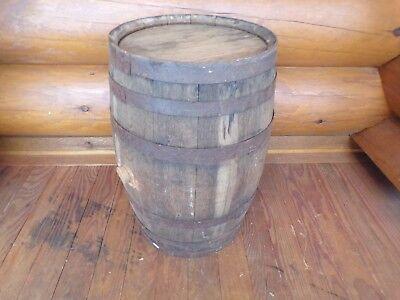 "Antique Vintage Rustic Wood Oak Beer Whiskey Wine Keg Barrel 21"" Tall, used for sale  Twin Lake"