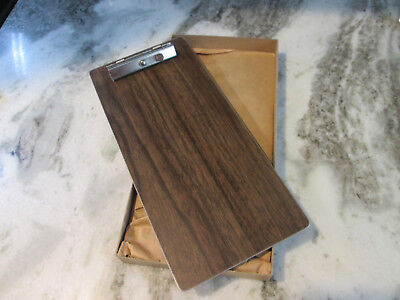 Vintage 1960s Nos Wood Grain Aluminum Guest Check Clipboards 2 Per Box