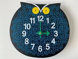 George Nelson Zoo Timer Omar The Owl Clock Mid Century Classic Design Wall Clock
