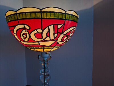 Vintage Coca-Cola Tiffany Style Stained Glass Plastic Shade