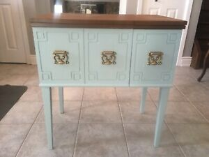 Converted sewing table